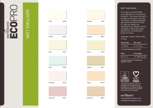 Emulsion Colour Card