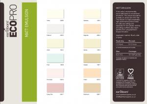 Emulsion Colour Card